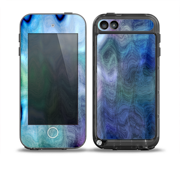The Vivid Blue Sagging Painted Surface Skin for the iPod Touch 5th Generation frē LifeProof Case