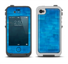 The Vivid Blue Techno Lines Apple iPhone 4-4s LifeProof Fre Case Skin Set