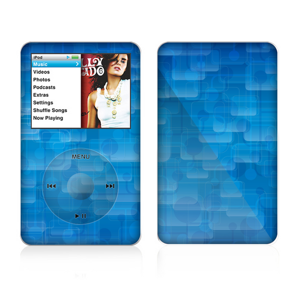The Vivid Blue Techno Lines Skin For The Apple iPod Classic