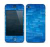 The Vivid Blue Techno Lines Skin for the Apple iPhone 4-4s
