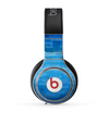 The Vivid Blue Techno Lines Skin for the Beats by Dre Pro Headphones
