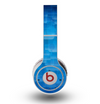 The Vivid Blue Techno Lines Skin for the Original Beats by Dre Wireless Headphones