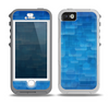 The Vivid Blue Techno Lines Skin for the iPhone 5-5s OtterBox Preserver WaterProof Case