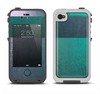 The Vivid Emerald Green Sponge Texture Apple iPhone 4-4s LifeProof Fre Case Skin Set