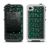 The Vivid Green Crocodile Skin Apple iPhone 4-4s LifeProof Fre Case Skin Set