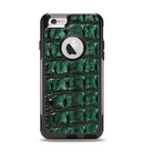 The Vivid Green Crocodile Skin Apple iPhone 6 Otterbox Commuter Case Skin Set