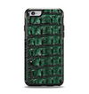 The Vivid Green Crocodile Skin Apple iPhone 6 Otterbox Symmetry Case Skin Set