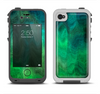 The Vivid Green Sagging Painted Surface Apple iPhone 4-4s LifeProof Fre Case Skin Set