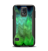 The Vivid Green Sagging Painted Surface Samsung Galaxy S5 Otterbox Commuter Case Skin Set