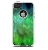 The Vivid Green Sagging Painted Surface Skin For The iPhone 5-5s Otterbox Commuter Case