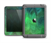 The Vivid Green Sagging Painted Surface Apple iPad Air LifeProof Fre Case Skin Set