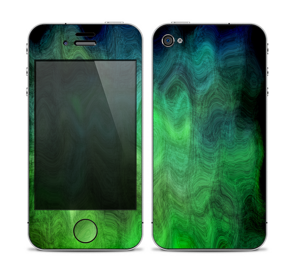 The Vivid Green Sagging Painted Surface Skin for the Apple iPhone 4-4s