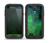 The Vivid Green Sagging Painted Surface Skin for the Samsung Galaxy S4 frē LifeProof Case