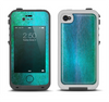 The Vivid Green Watercolor Panel Apple iPhone 4-4s LifeProof Fre Case Skin Set
