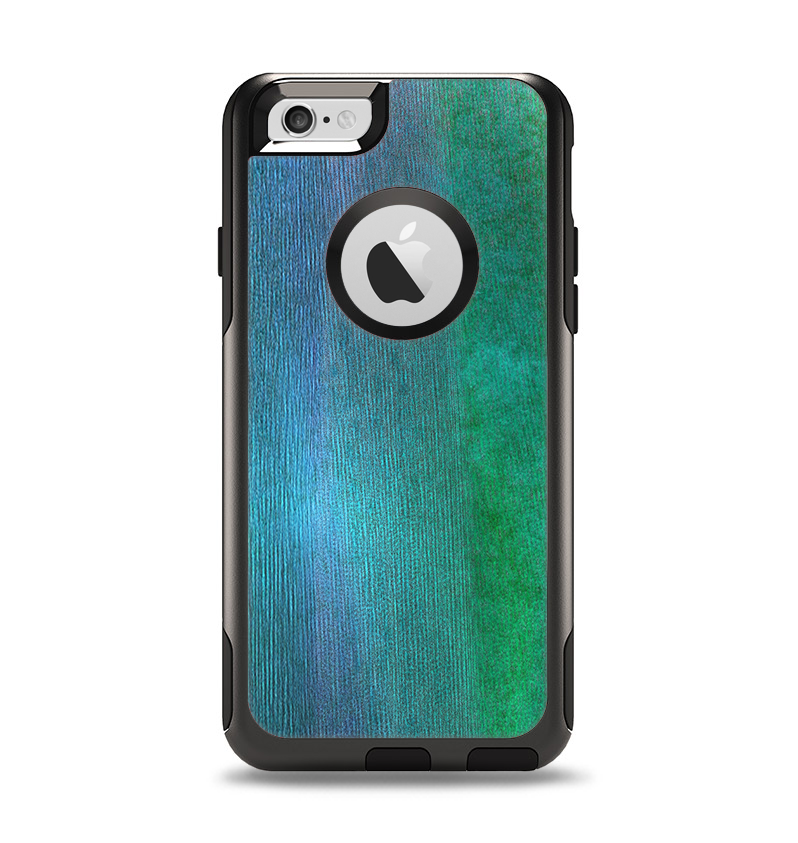The Vivid Green Watercolor Panel Apple iPhone 6 Otterbox Commuter Case Skin Set
