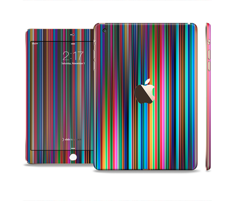 The Vivid Multicolored Stripes Full Body Skin Set for the Apple iPad Mini 3