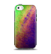 The Vivid Neon Colored Texture Apple iPhone 5c Otterbox Symmetry Case Skin Set