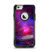 The Vivid Pink Galaxy Lights Apple iPhone 6 Otterbox Commuter Case Skin Set