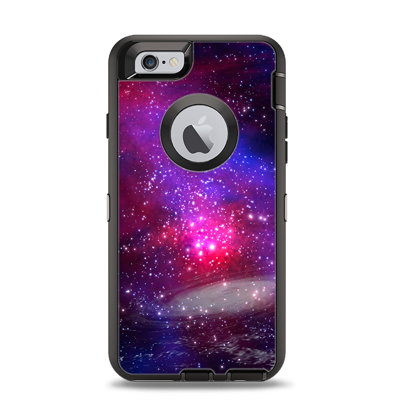 newest collection 184d5 3dfd0 The Vivid Pink Galaxy Lights Apple iPhone 6 Otterbox Defender Case Skin Set