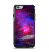 The Vivid Pink Galaxy Lights Apple iPhone 6 Otterbox Symmetry Case Skin Set