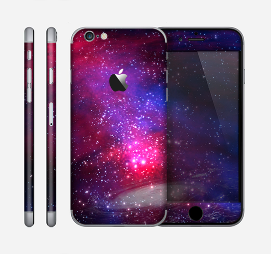The Vivid Pink Galaxy Lights Skin for the Apple iPhone 6