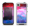 The Vivid Pink and Blue Space Apple iPhone 4-4s LifeProof Fre Case Skin Set