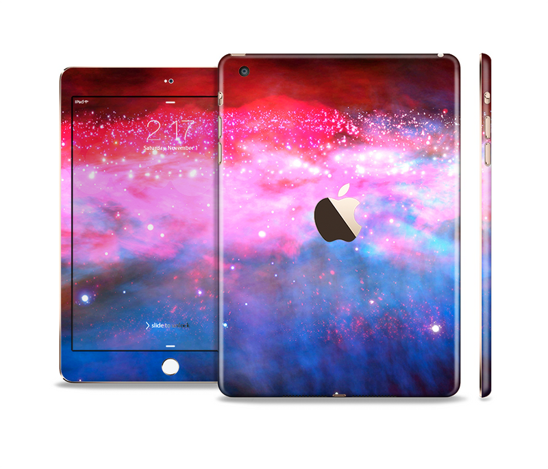 The Vivid Pink and Blue Space Full Body Skin Set for the Apple iPad Mini 3