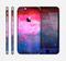 The Vivid Pink and Blue Space Skin for the Apple iPhone 6