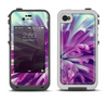 The Vivid Purple Flower Apple iPhone 4-4s LifeProof Fre Case Skin Set