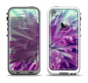 The Vivid Purple Flower Apple iPhone 5-5s LifeProof Fre Case Skin Set