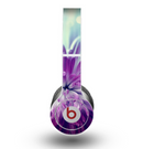 The Vivid Purple Flower Skin for the Beats by Dre Original Solo-Solo HD Headphones