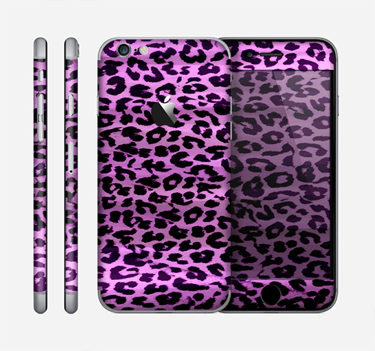 The Vivid Purple Leopard Print Skin for the Apple iPhone 6