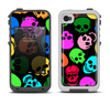 The Vivid Vector Neon Skulls Apple iPhone 4-4s LifeProof Fre Case Skin Set