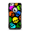 The Vivid Vector Neon Skulls Apple iPhone 6 Otterbox Commuter Case Skin Set