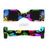 The Vivid Vector Neon Skulls Full-Body Skin Set for the Smart Drifting SuperCharged iiRov HoverBoard