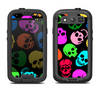 The Vivid Vector Neon Skulls Samsung Galaxy S3 LifeProof Fre Case Skin Set