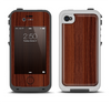 The Walnut WoodGrain V3 Apple iPhone 4-4s LifeProof Fre Case Skin Set