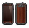 The Walnut WoodGrain V3 Samsung Galaxy S3 LifeProof Fre Case Skin Set