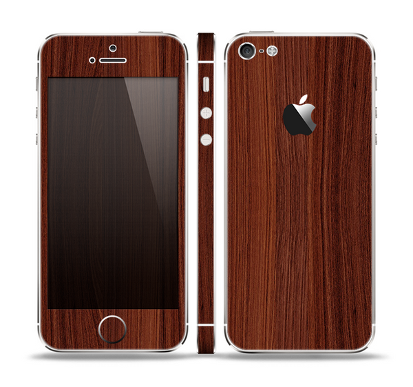 The Walnut WoodGrain V3 Skin Set for the Apple iPhone 5