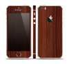 The Walnut WoodGrain V3 Skin Set for the Apple iPhone 5s