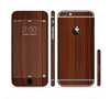 The Walnut WoodGrain V3 Sectioned Skin Series for the Apple iPhone 6