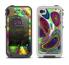 The Warped Colorful Layer-Circles Apple iPhone 4-4s LifeProof Fre Case Skin Set
