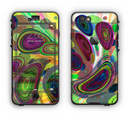 The Warped Colorful Layer-Circles Apple iPhone 6 LifeProof Nuud Case Skin Set
