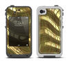 The Warped Gold-Plated Mosaic Apple iPhone 4-4s LifeProof Fre Case Skin Set