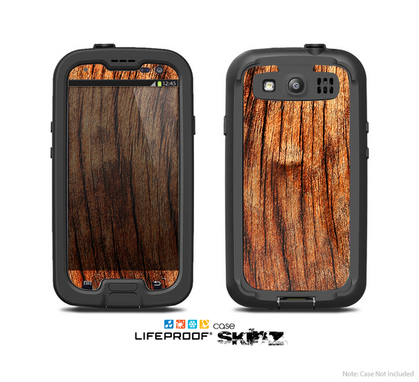 The Warped Wood Skin For The Samsung Galaxy S3 LifeProof Case