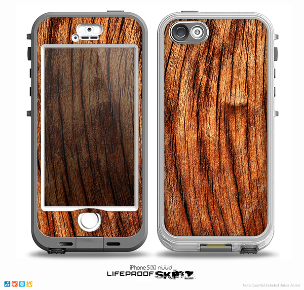The Warped Wood Skin for the iPhone 5-5s NUUD LifeProof Case for the LifeProof Skin