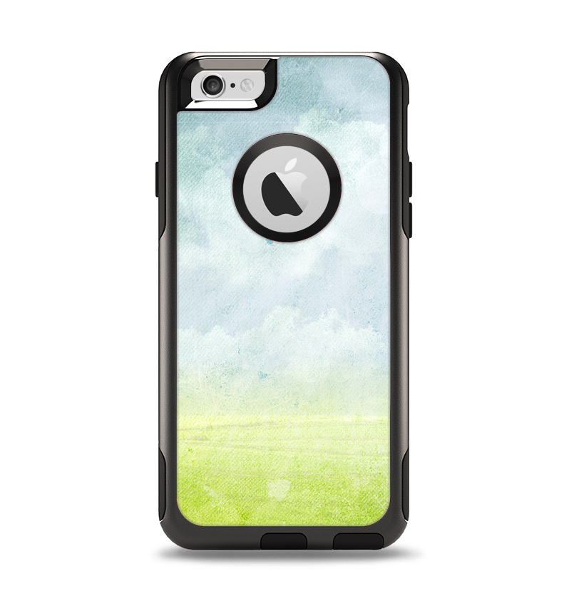The Water-Color Painting of Meadow Apple iPhone 6 Otterbox Commuter Case Skin Set