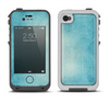 The WaterColor Blue Texture Panel Apple iPhone 4-4s LifeProof Fre Case Skin Set