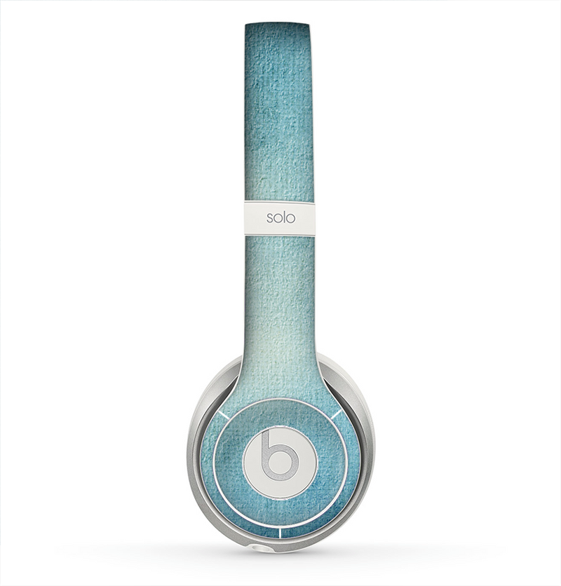 The WaterColor Blue Texture Panel Skin for the Beats by Dre Solo 2 Headphones
