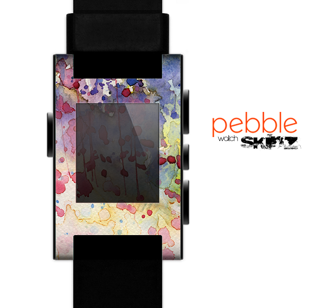 The WaterColor Grunge Setting Skin for the Pebble SmartWatch es